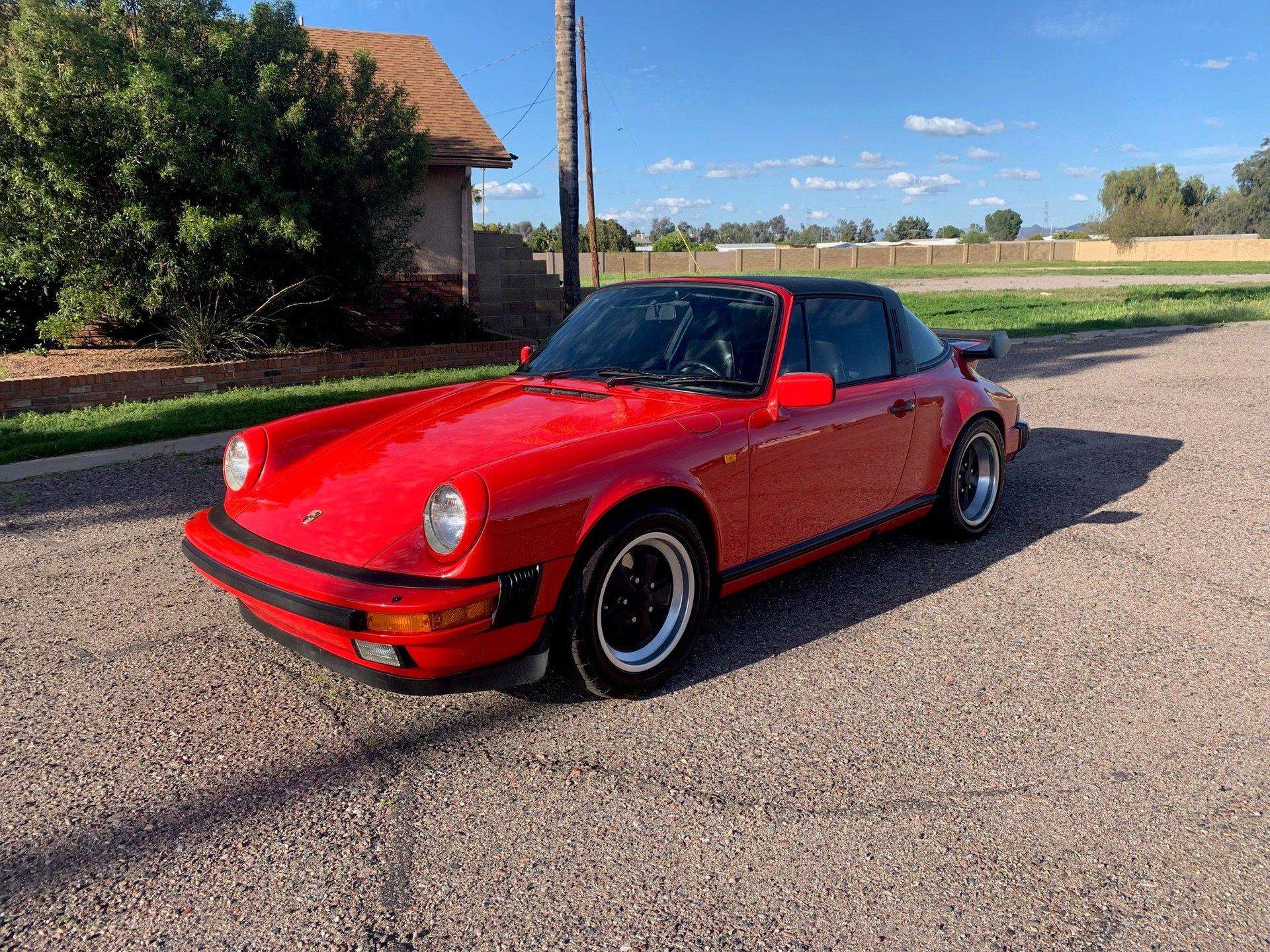 1985 porsche 911 targa coupe