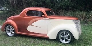 1937 ford 3 window street rod coupe
