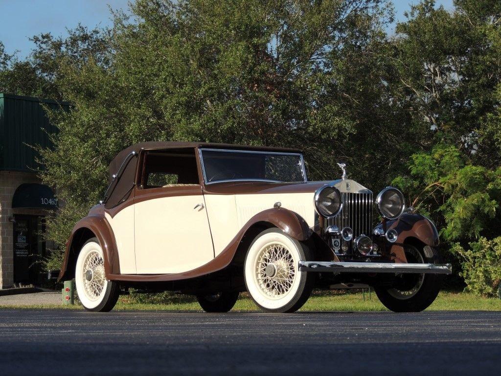 1934 rolls royce 20 25 sedanca drophead coupe