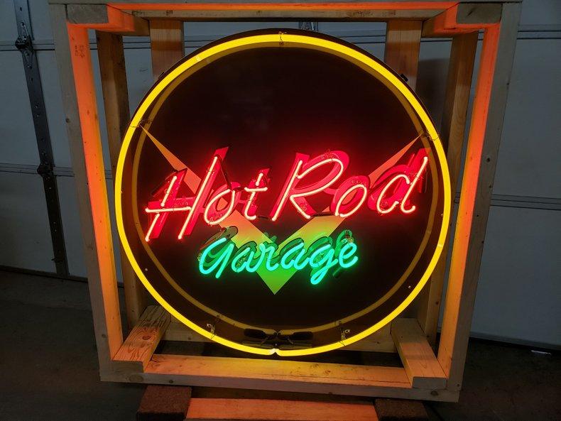 Hot Rod Garage Tin Neon Sign