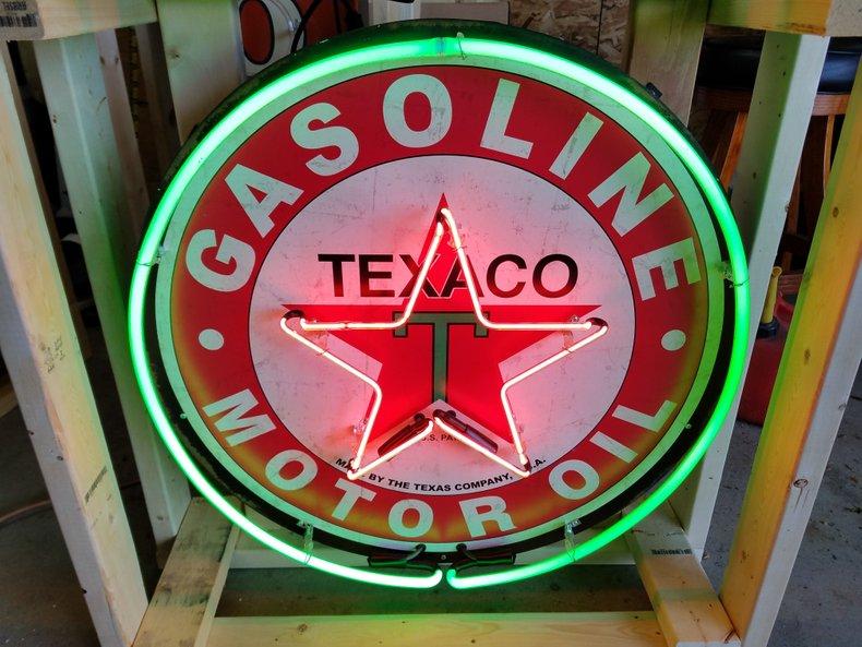 Texaco Tin Neon Sign