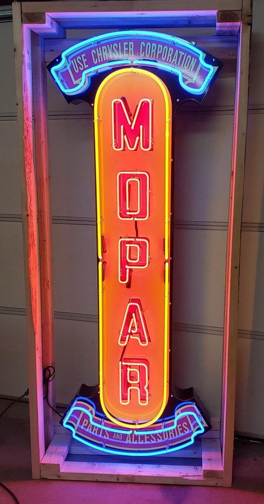 Mopar Tin Neon Sign
