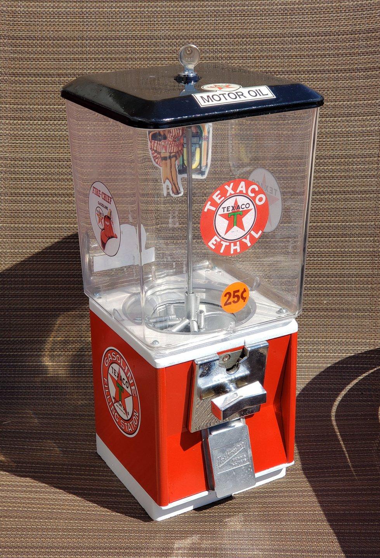 Texaco 25 cent gumball machine
