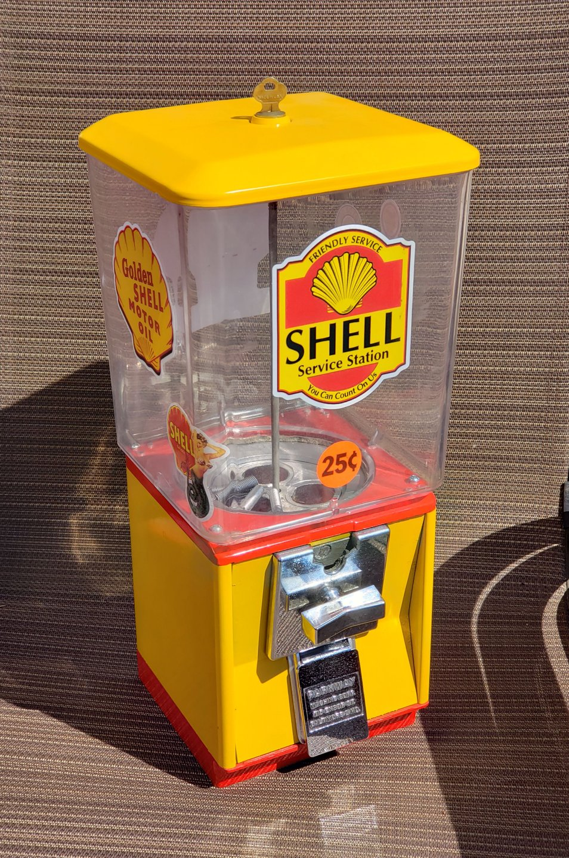 Shell 25 cent gumball machine