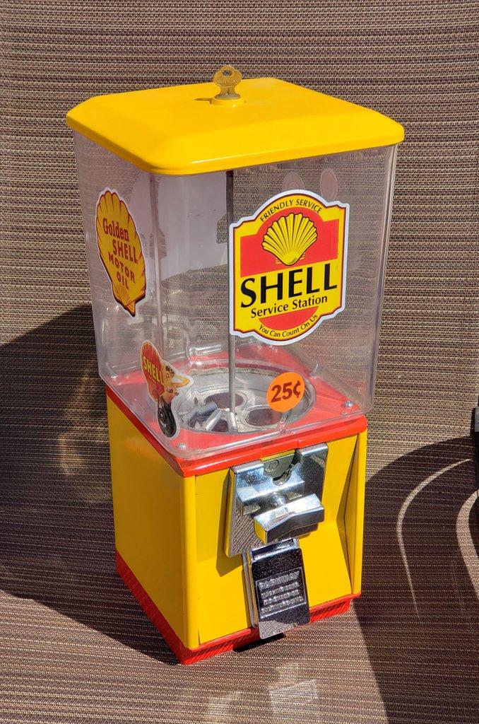 Shell .25 Cent Gumball Machine