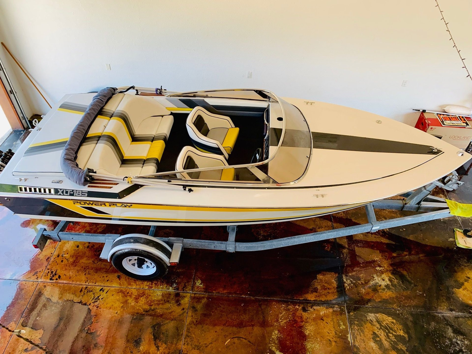 1989 power play 185 xlt speed boat