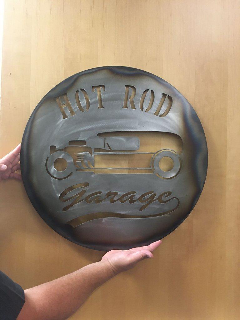 Hot Rod Garage Metal Sign