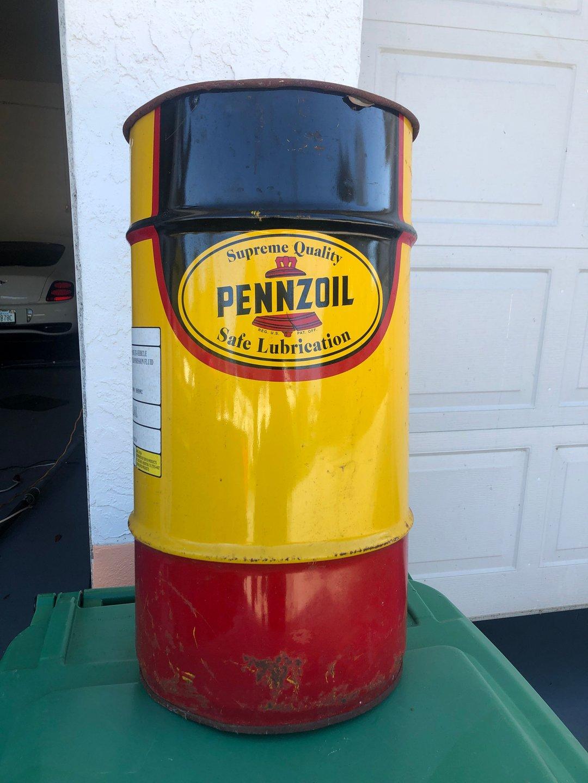 Pennzoil cans