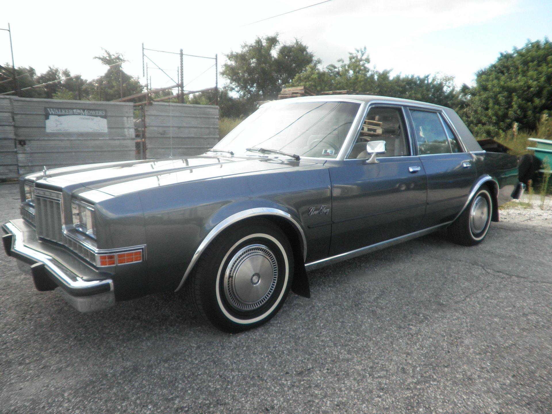 1985 plymouth gran fury sedan