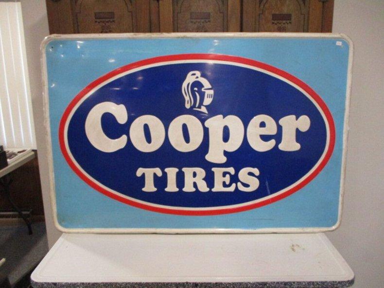 Cooper Tin Tire Sign