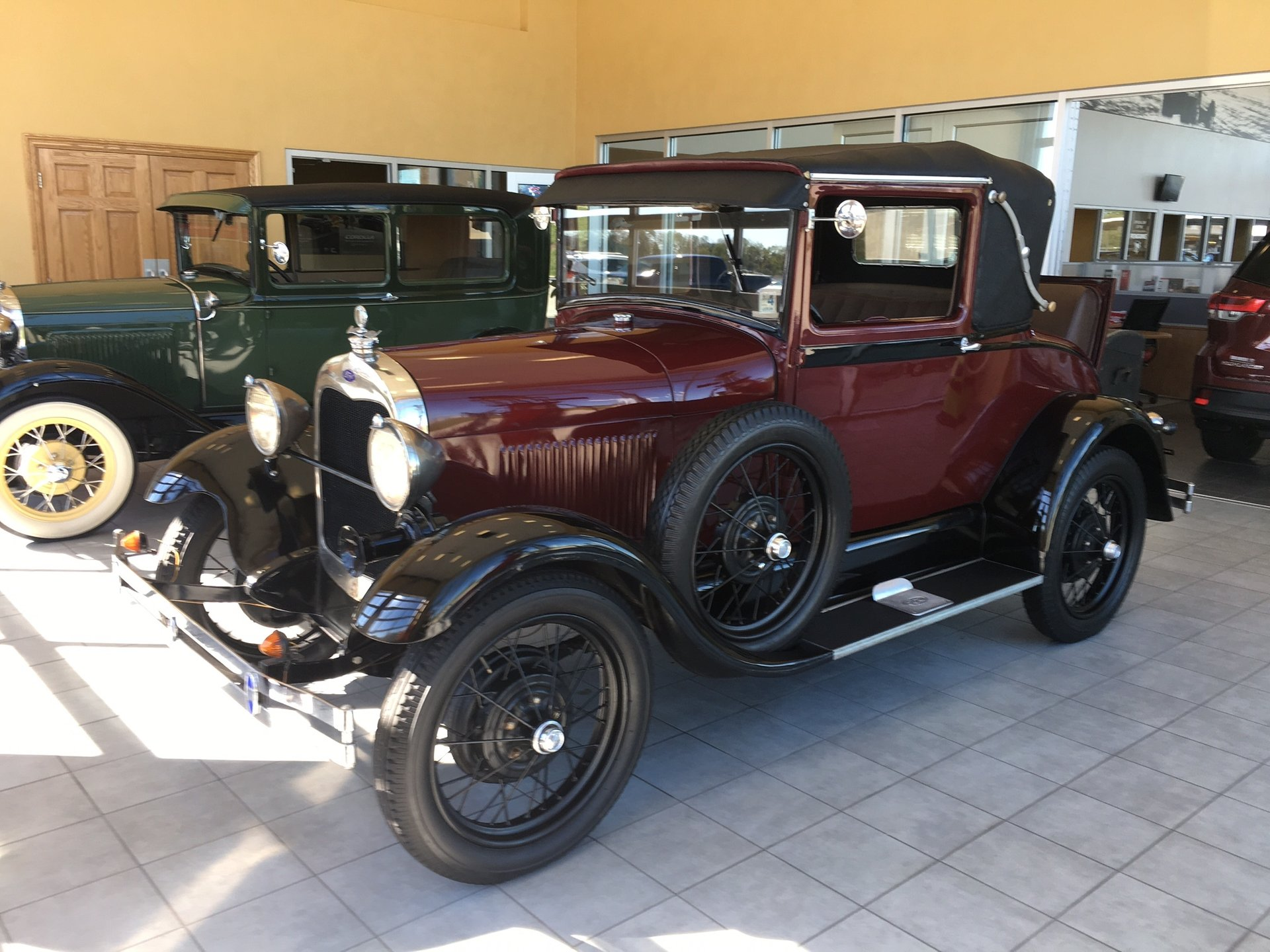 1929 ford model a cabriolet coupe