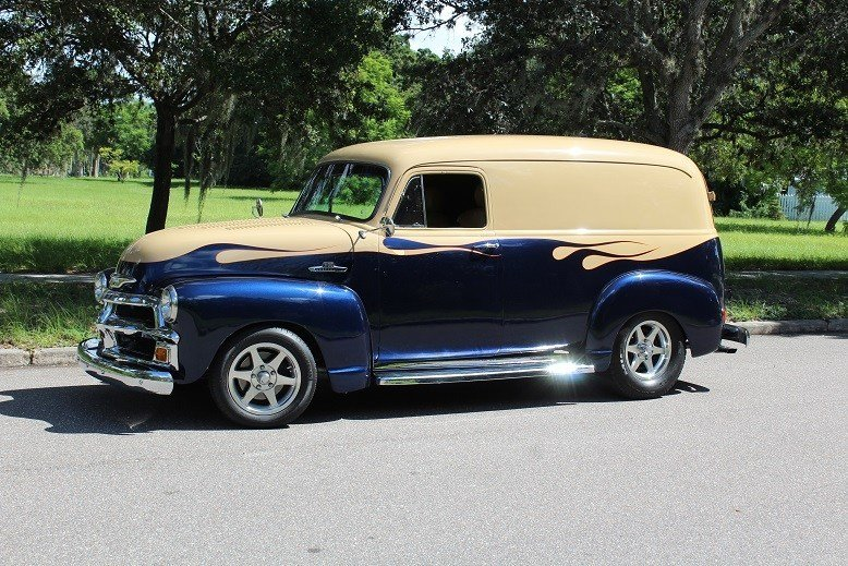 1955 chevrolet 3100 custom panel van