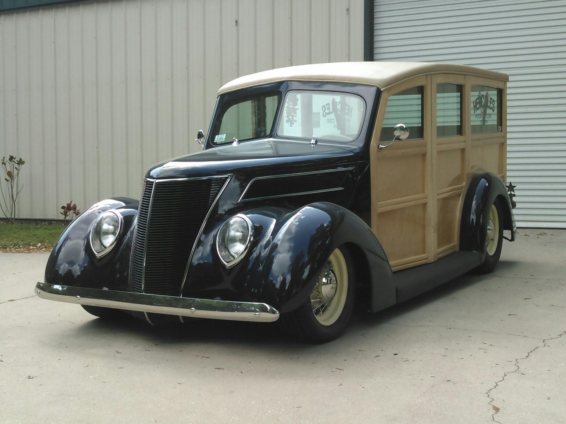 1937 ford custom woody station wagon