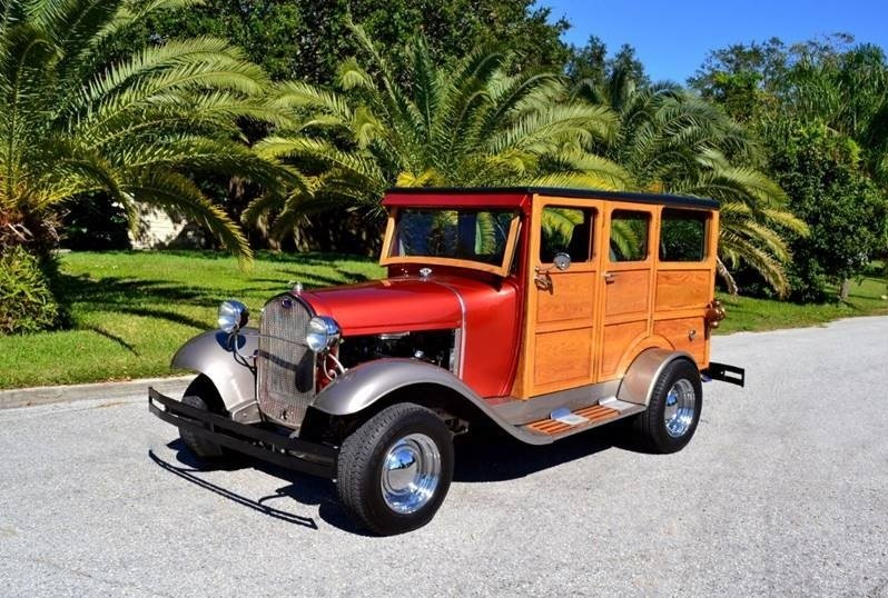 1930 ford model a woody street rod