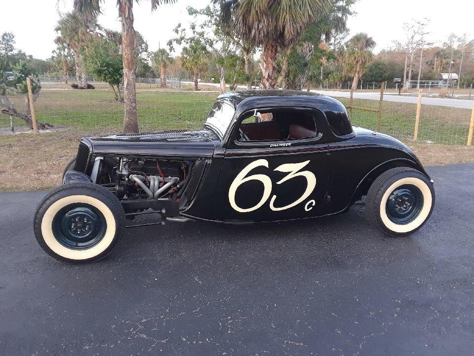 1934 ford 3 window salt flat racer