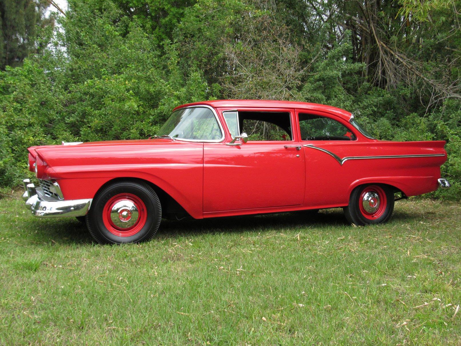 1957 ford 300 custom f code supercharged sedan