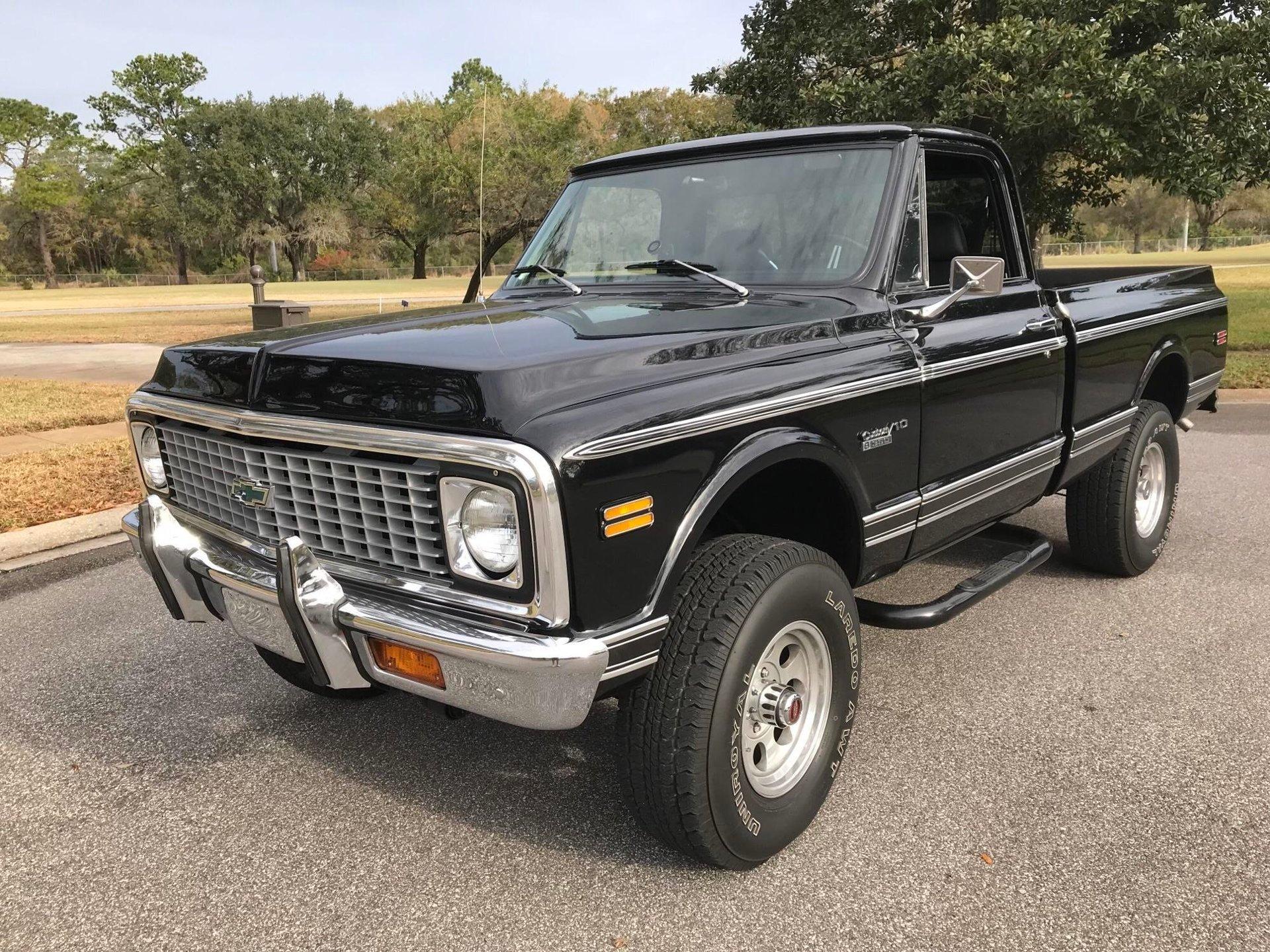 1972 chevrolet k 10 4 x 4 pickup