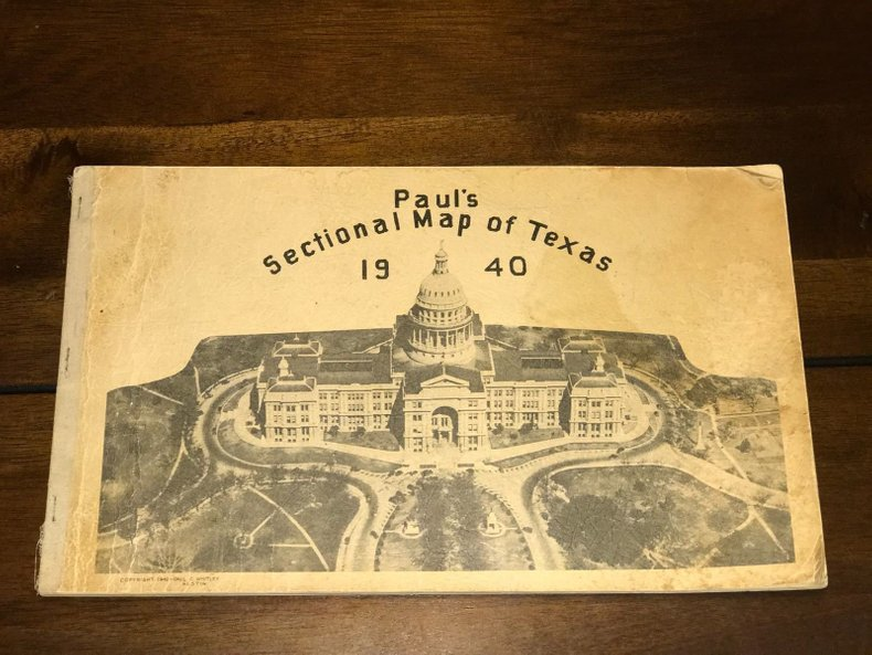 1940 Texas Sectional Map