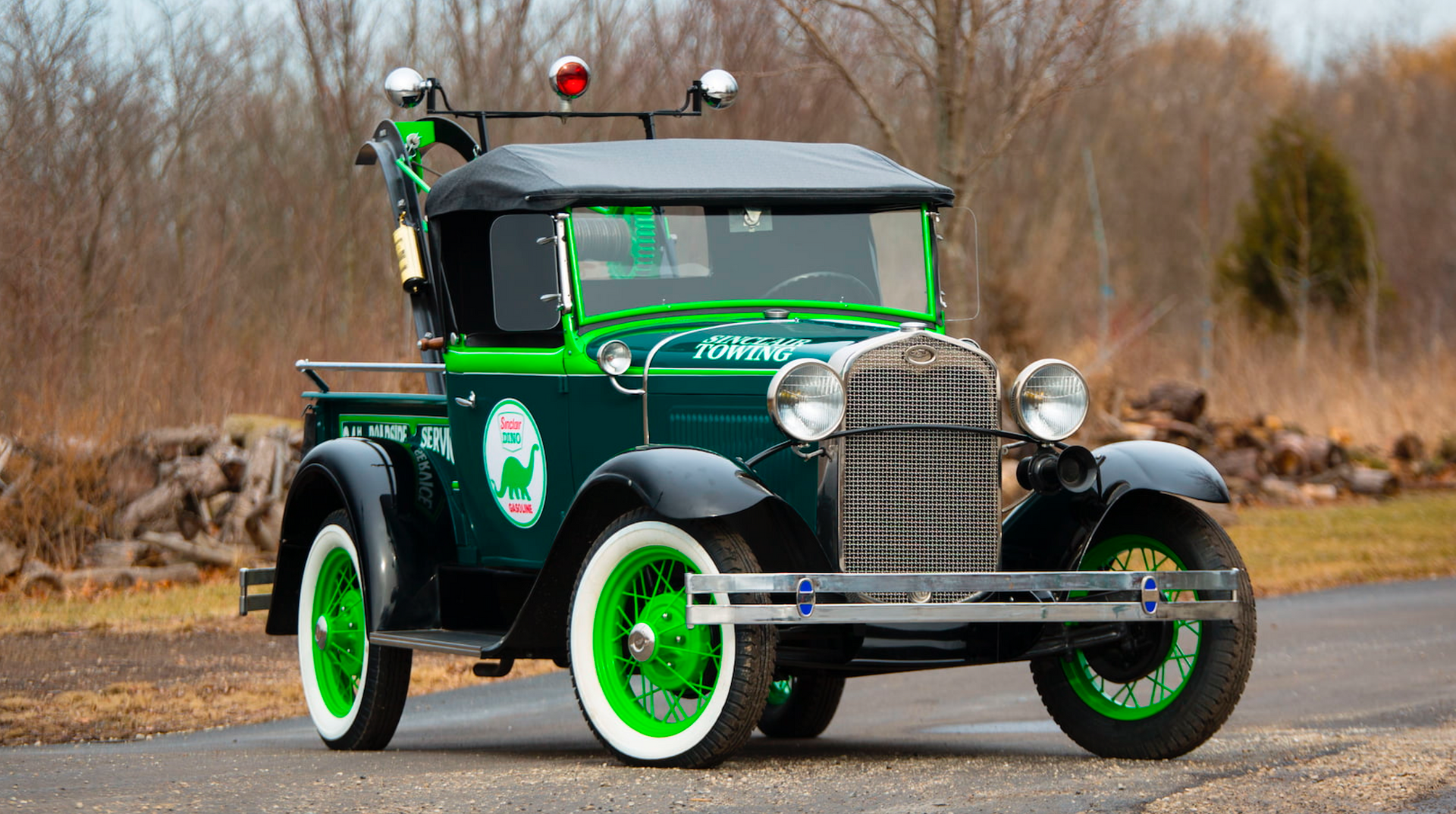 1930 ford model a roadster tow truck