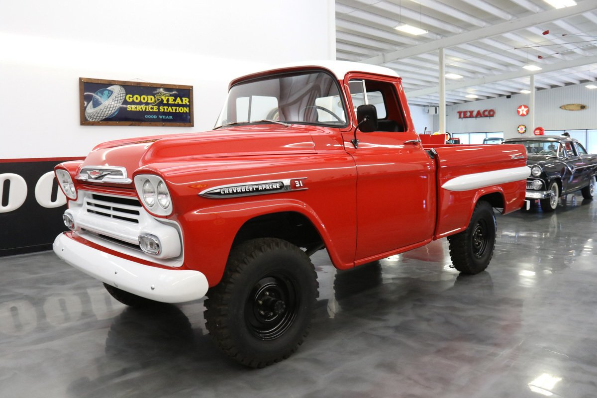 1959 chevrolet apache napco 4x4 fleetside pickup