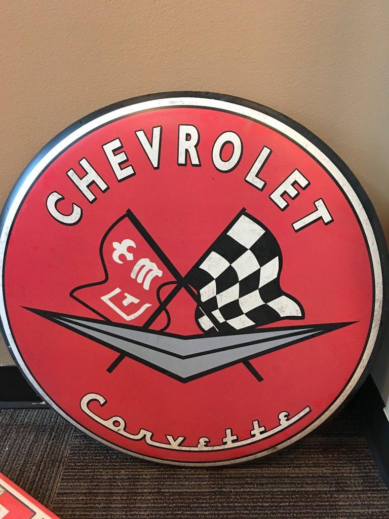 Chevrolet Corvette Button Sign