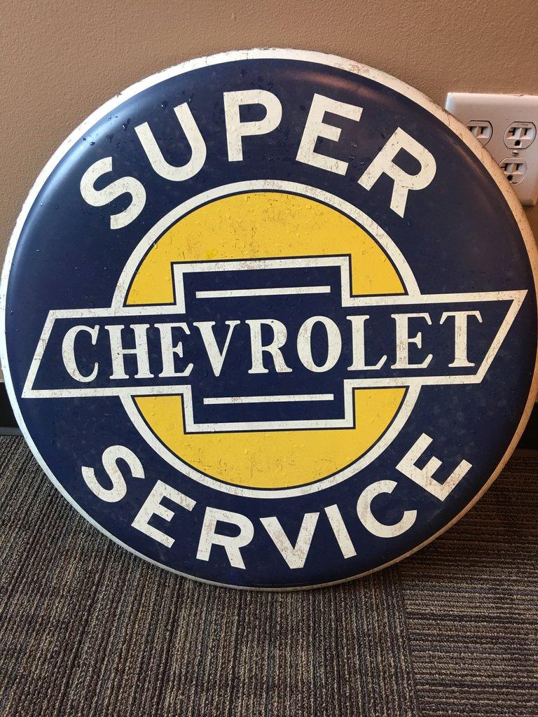 Chevrolet Super Service Button Sign