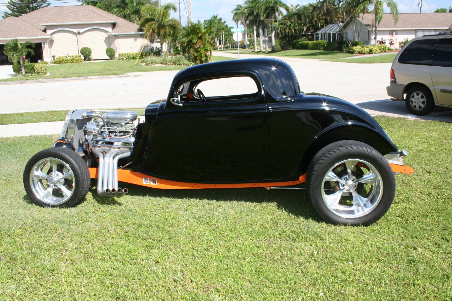 1933 ford 3 window street rod coupe