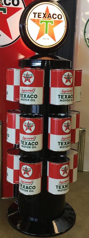 Texaco oil can rack