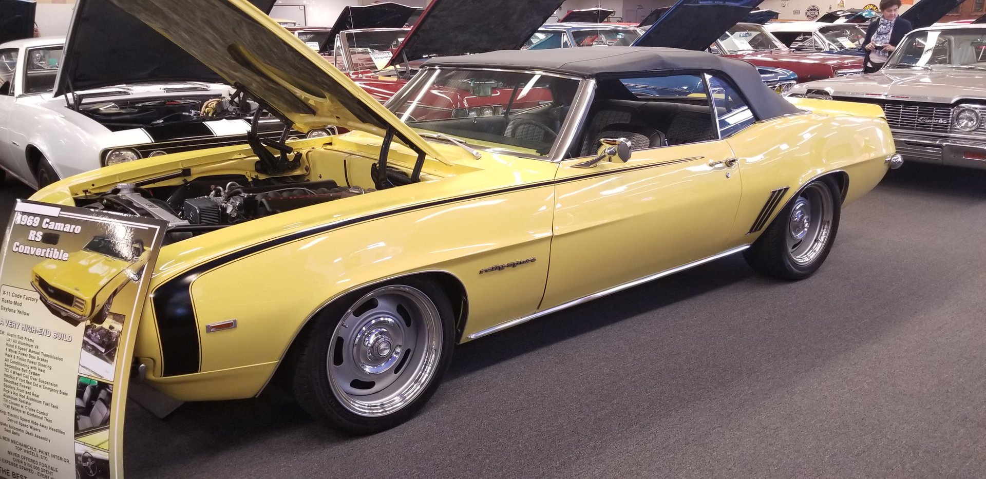 1969 chevrolet camaro rs convertible