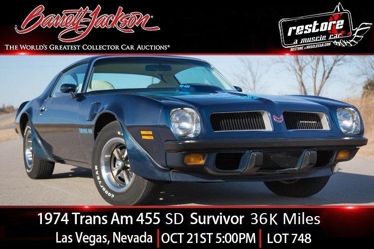 1974 Pontiac Trans Am SD For Sale