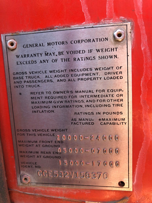 1972 Chevrolet C50 Fire Truck for sale #95467 | MCG
