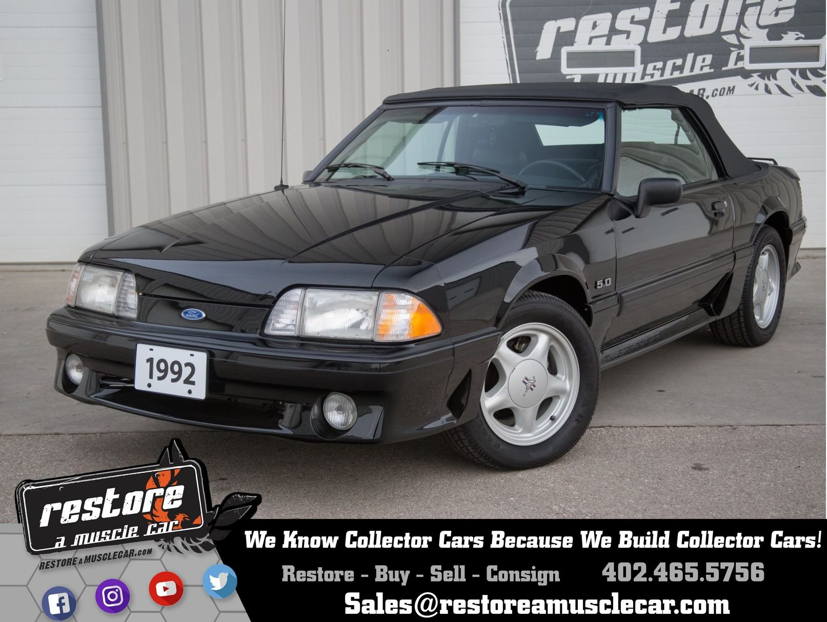 1992 ford mustang for sale 79575 mcg
