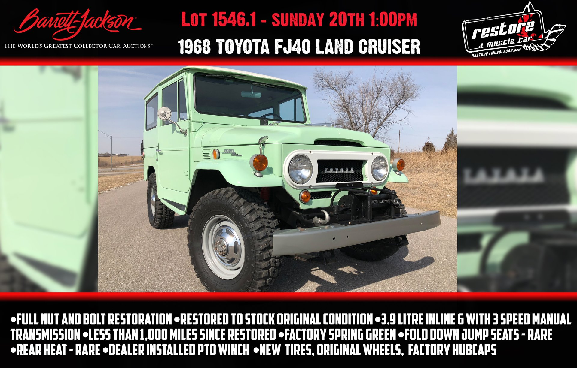 1968 Toyota Land Cruiser | Restore A Muscle Car™ LLC