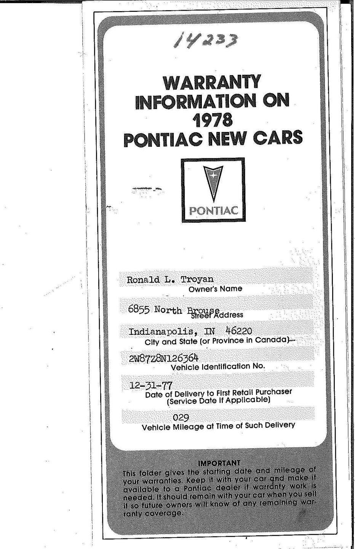 1978 Pontiac Trans Am | Restore A Muscle Car™ LLC