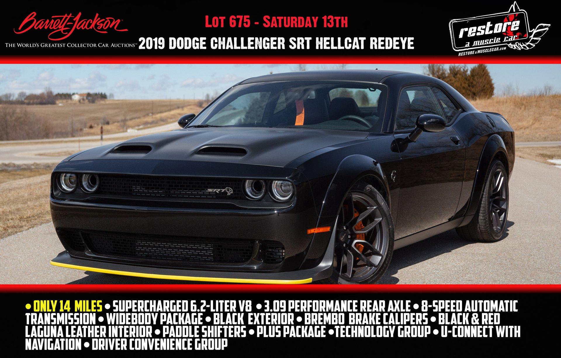 2019 Dodge Challenger Hellcat Redeye Restore A Muscle Car Llc