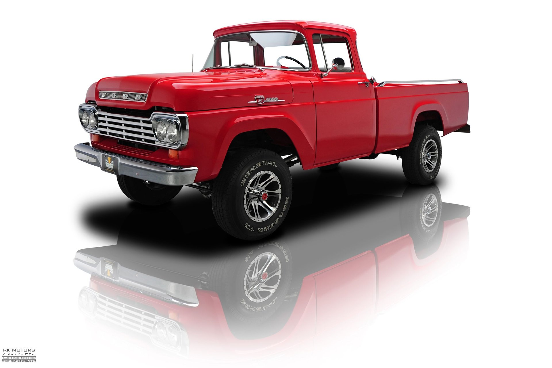 1959 ford f100 fleetside custom cab 4x4