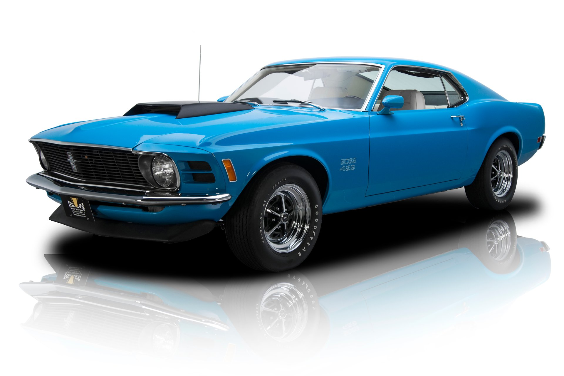 Documented restored investment grade grabber blue mustang boss 429 v8 4 speed