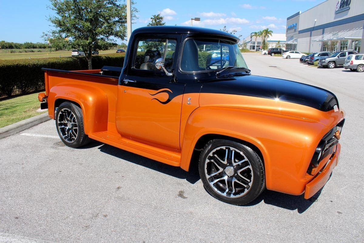 1956 Ford F100 Classic Cars Of Sarasota 1955 Wide Bed
