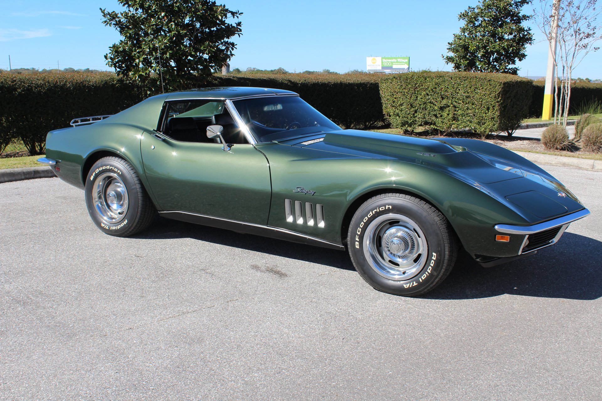 A Fathom Green 1969 Corvette, not necessarily the aforementioned Fathom Green 1969 Corvette.