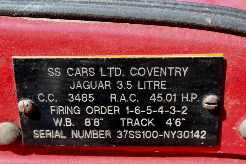 1986 jaguar ss 100 replica