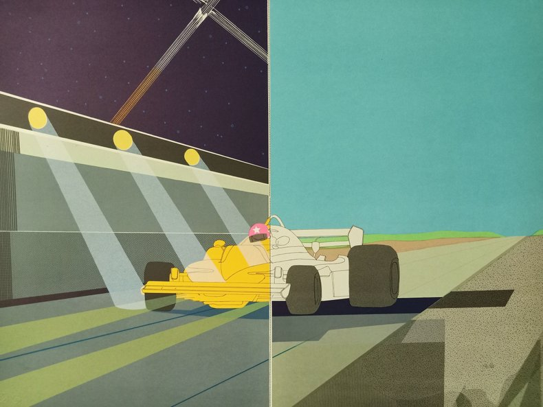 """""""Day and Night"""" - Lithograph by Raymond Loewy Original Print"""