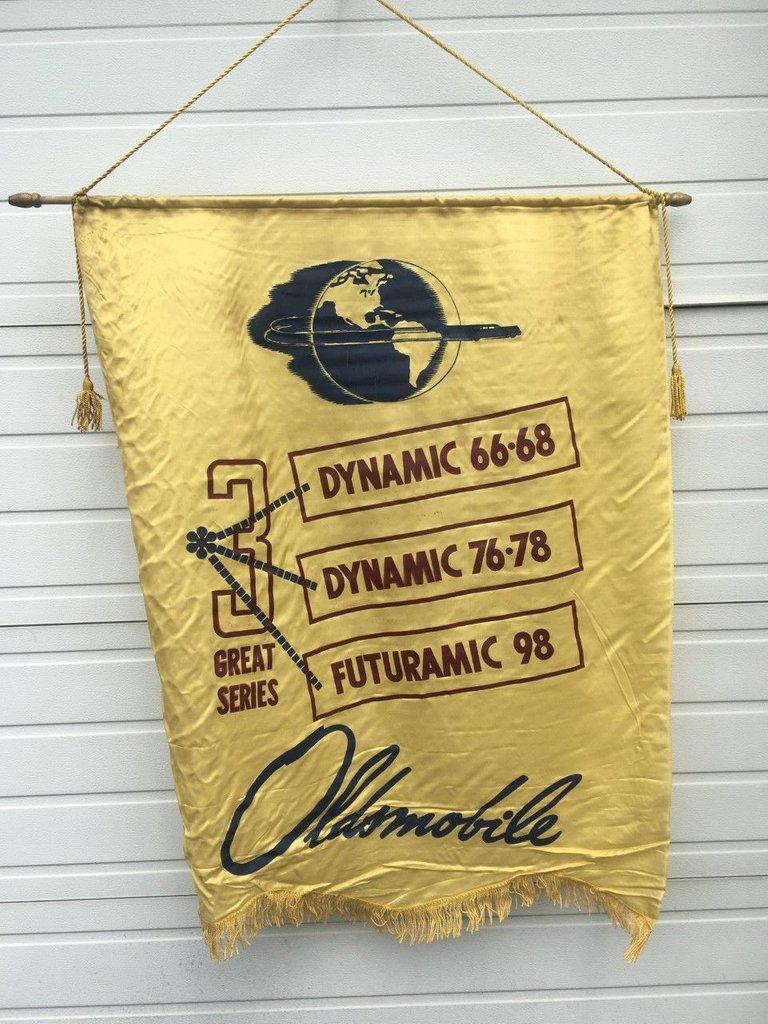 Oldsmobile Dealer Banner Late 1940's