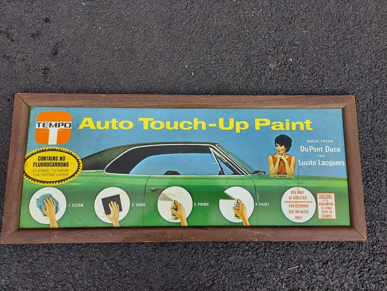 TEMPO Auto Touch-Up Paint - Metal Sign