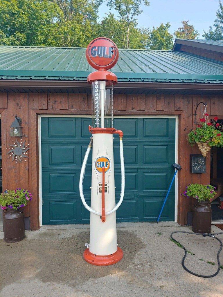 Gulf Visible Gas Pump Wayne 615