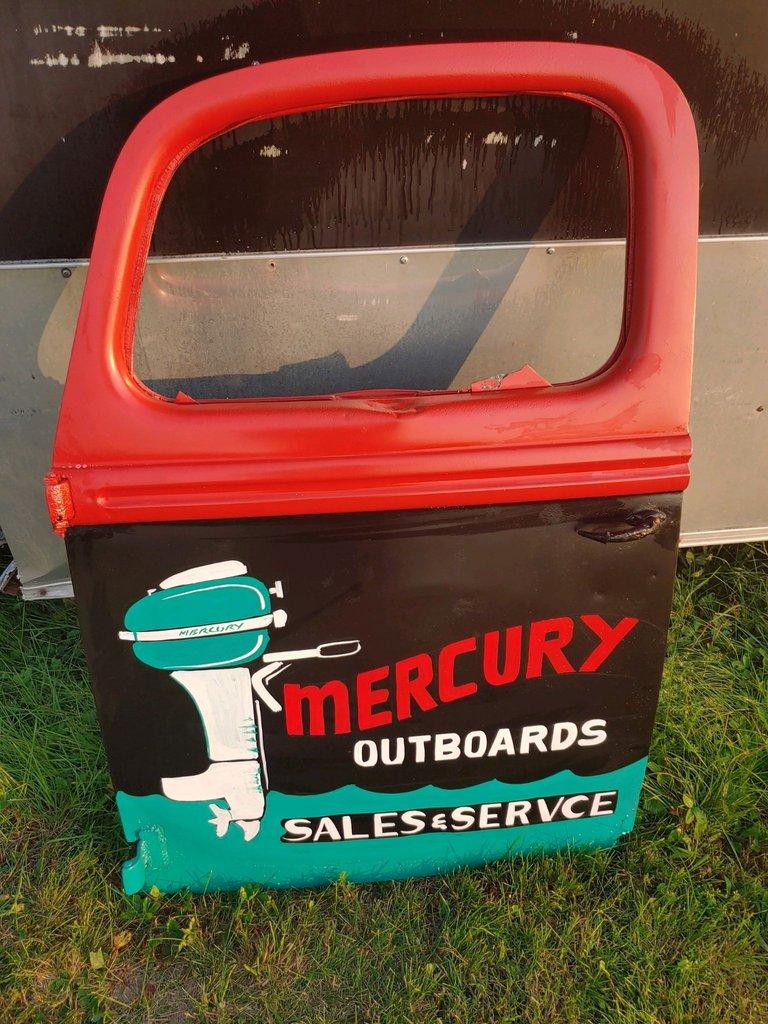 Truck Door Garage Art Mercury Outboards