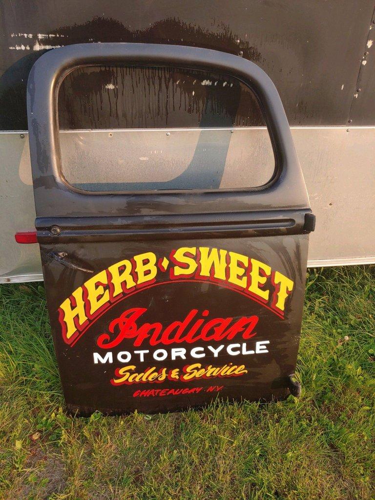 Truck Door Garage Art Indian Motorcycle