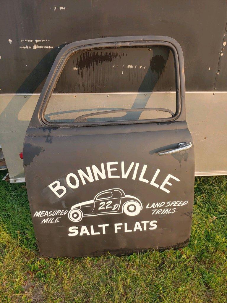 Truck Door Garage Art Bonneville Salt Flats