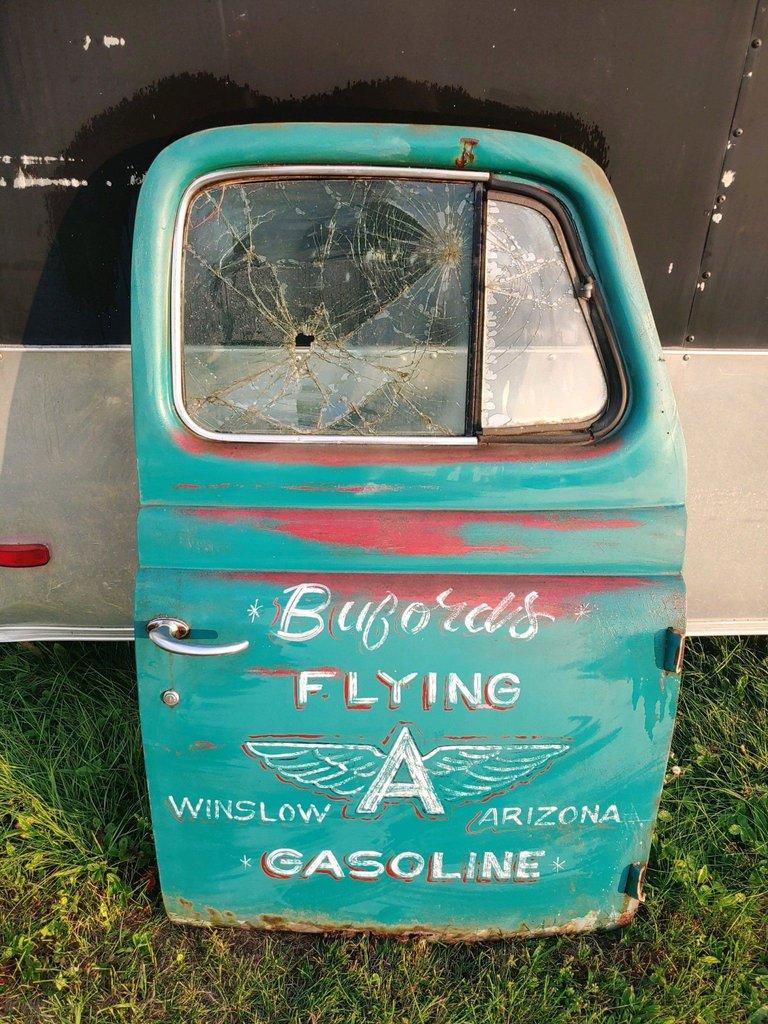 Truck Door Garage Art Bufords Flying Gasoline