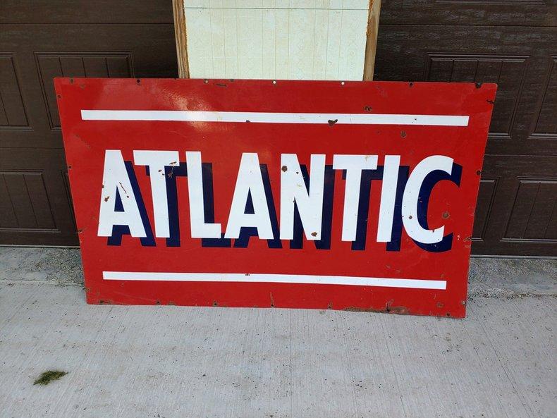 Atlantic 2 Sided Porcelain Sign