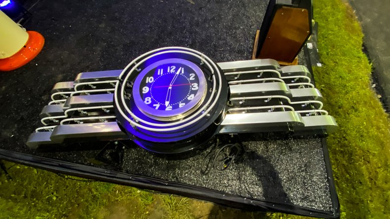 Recently Handmade By Wonderful Artist & Metal Sculptor Art Deco Clock